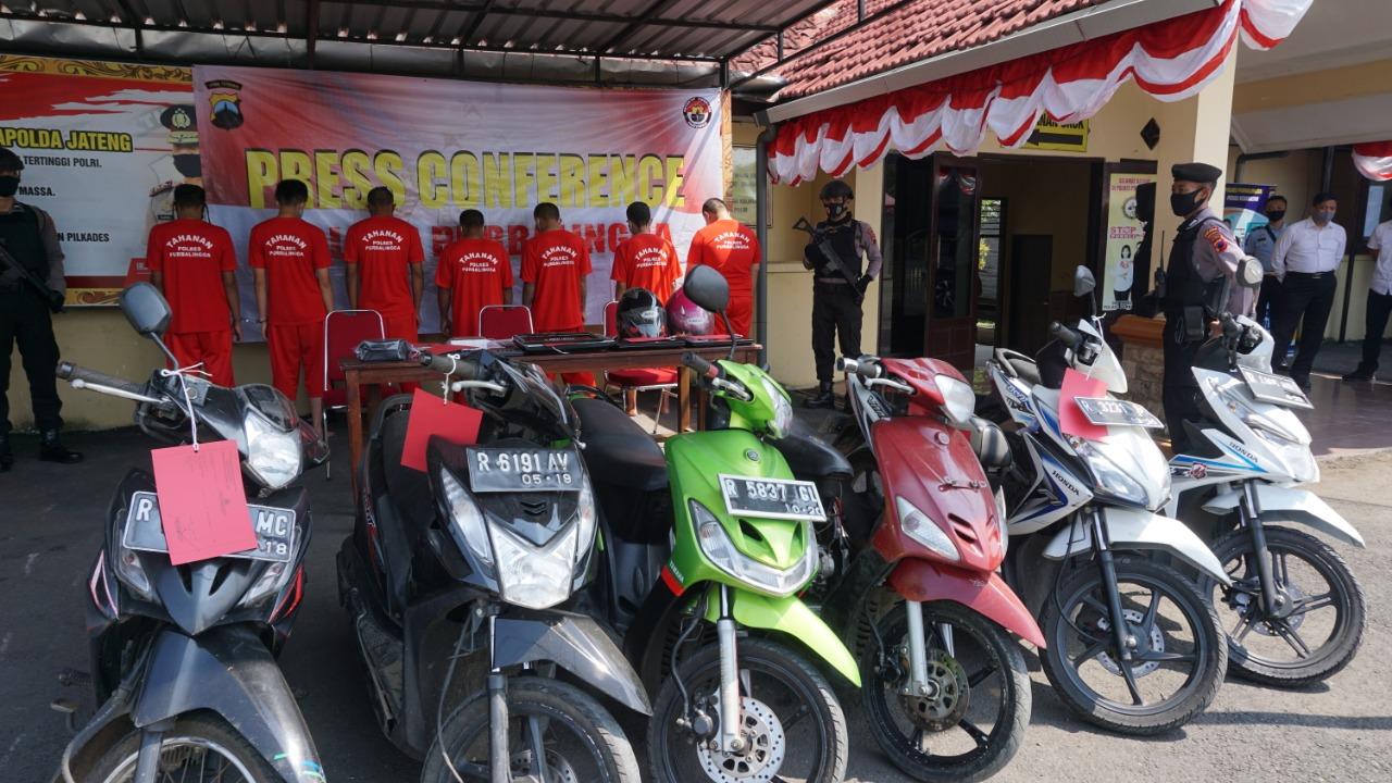 Photo of Operasi Sikat Jaran Candi, Polres Purbalingga Sikat Tujuh Penjahat