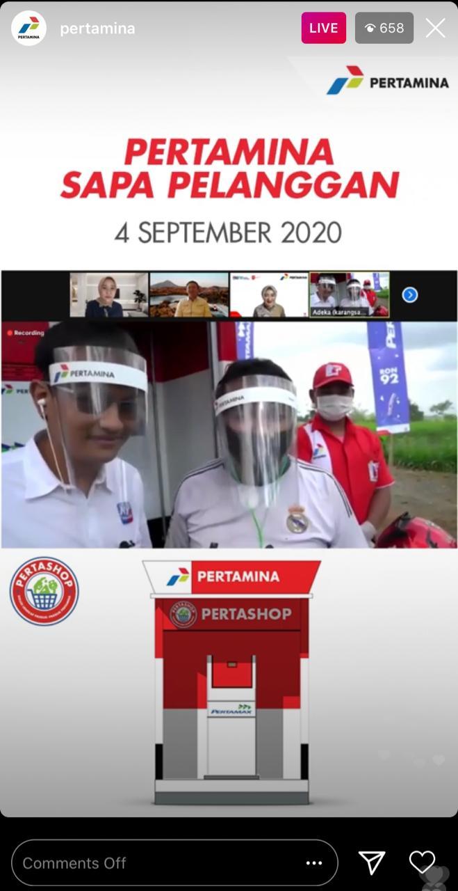 Photo of Sapa Pelanggan Secara Virtual Di Banyumas, Komisaris dan Dirut Pertamina Sampaikan Terima Kasih