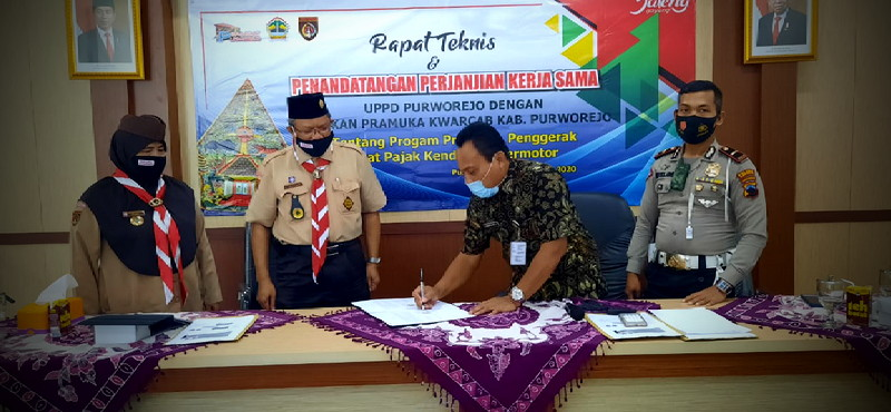 Photo of UPPD Purworejo Jalin Kerjasama Dengan Pramuka