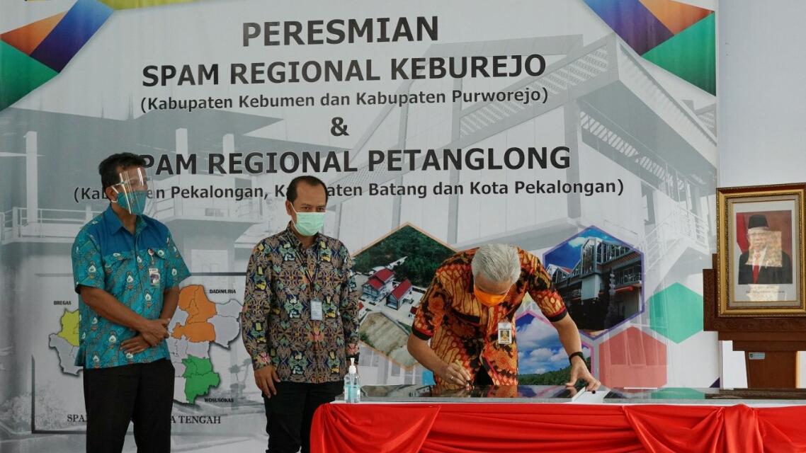 Photo of Ganjar Resmikan SPAM Regional Keburejo dan Petanglong