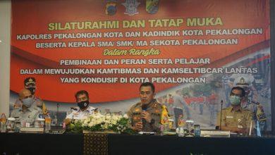 Photo of Jelang Pilkada, Polres Pekalongan Kota Kumpulkan Kepsek dan Pelajar