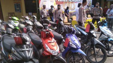 Photo of Satu Sepeda Motor Hanya Dijual Rp 1,2 Juta, Polres Rembang Ungkap Kasus Curanmor di 20 Lokasi