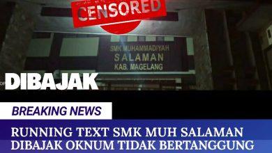 Photo of Running Text SMK Muhammadiyah Salaman Diretas