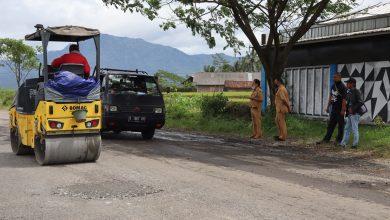 Photo of Bupati Banjarnegara Tambal Jalan Pucang-Jenggawur