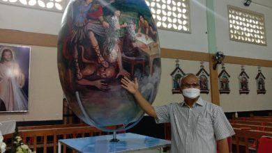 Photo of Telur Paskah Ukuran Besar di Gereja Santo Mikael Pancaarga Magelang