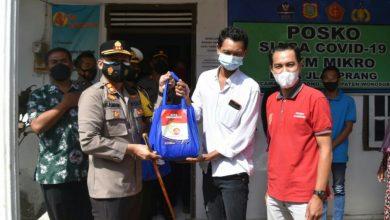 Photo of Terdampak PPKM Darurat, Polres Wonosobo Bagikan Sembako ke Pedagang Kecil