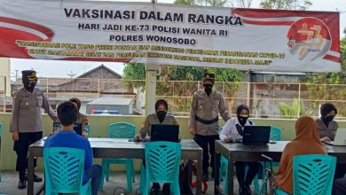 Photo of Peringati HUT Polwan ke-73, Polres Wonosobo Gelar Vaksin Massal